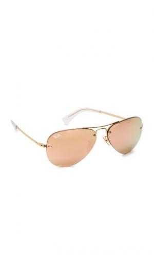 Солнцезащитные очки-авиаторы в безободковой оправе Ray-Ban