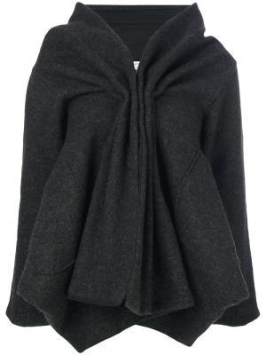 Присборенная спереди куртка Stefano Mortari. Цвет: серый