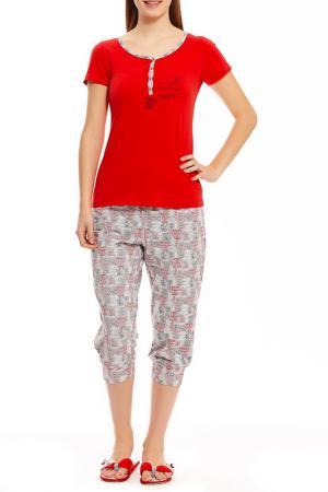 Пижама с капри Relax Mode. Цвет: телефон