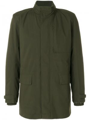 Стеганая куртка Z Zegna. Цвет: зелёный