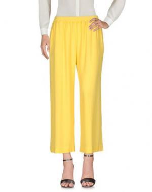Повседневные брюки SISTE' S. Цвет: желтый