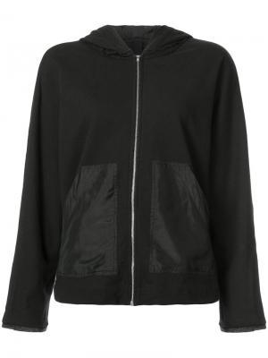 Куртка бомбер с капюшоном Raquel Allegra. Цвет: чёрный