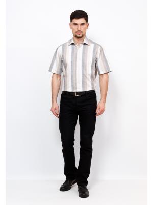 Рубашка BERTHIER. Цвет: серый, бежевый, белый