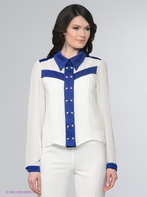 Блузка Enna Levoni. Цвет: белый, синий