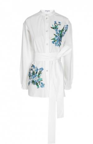 Блуза с шарфом Jonathan Saunders. Цвет: белый