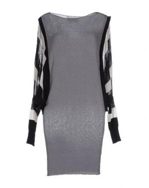 Короткое платье PAOLO ERRICO. Цвет: серый