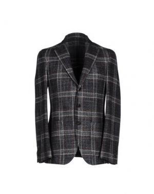 Пиджак LUIGI BORRELLI NAPOLI. Цвет: стальной серый