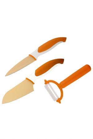 Набор ножей и овощечистка Granchio. Цвет: оранжевый