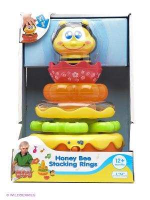 Пирамидка Пчелка Hap-P-Kid. Цвет: желтый, голубой, красный
