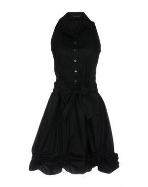 Короткое платье WALTER VOULAZ. Цвет: черный