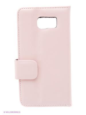 Чехол S - View на Samsung S6 Dimanche. Цвет: розовый