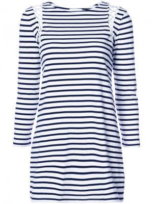 Платье-футболка в полоску A.L.C.. Цвет: белый