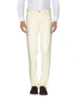 Повседневные брюки MESSAGERIE. Цвет: светло-желтый