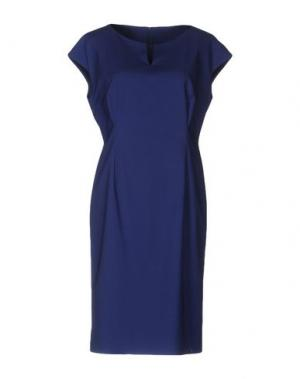Платье до колена EMISPHERE. Цвет: синий