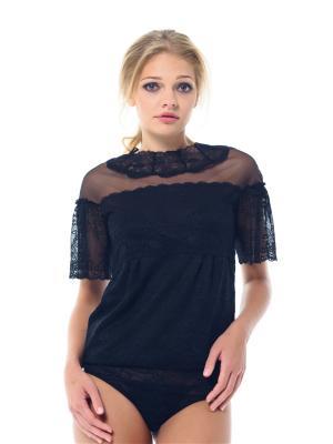 Блузка- боди Arefeva. Цвет: черный