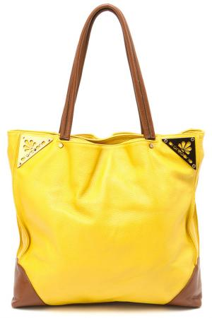 Сумка Di Gregorio. Цвет: желтый, коричневый