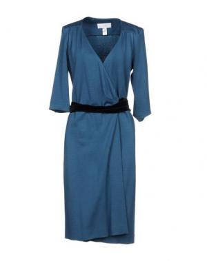 Платье до колена AZZARO. Цвет: цвет морской волны