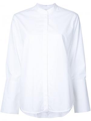 Рубашка с воротником-стойкой Studio Nicholson. Цвет: белый