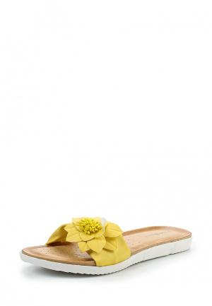 Шлепанцы Damerose. Цвет: желтый