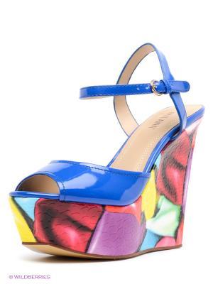 Босоножки MILANA. Цвет: синий, голубой, фиолетовый, коралловый