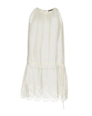 Короткое платье FABRIZIO LENZI. Цвет: слоновая кость