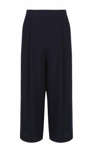 Укороченные широкие брюки с защипами Diane Von Furstenberg. Цвет: темно-синий