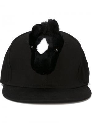 Бейсболка Horse Piers Atkinson. Цвет: чёрный