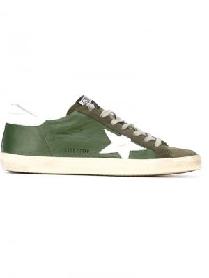 Кеды Super Star Golden Goose Deluxe Brand. Цвет: зелёный
