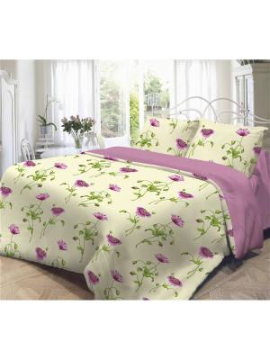 Комплект постельного белья 2,0-сп, НЕЖНОСТЬ, поплин 50*70см, Весна Волшебная ночь. Цвет: желтый, красный