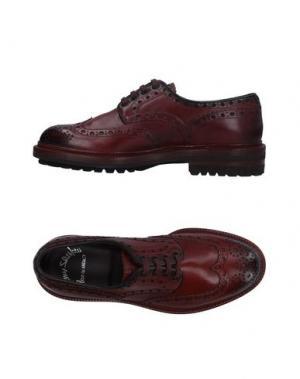 Обувь на шнурках SANTONI. Цвет: баклажанный