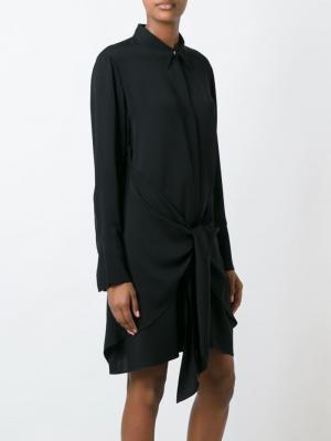 Платье-рубашка с запахом Theory. Цвет: чёрный
