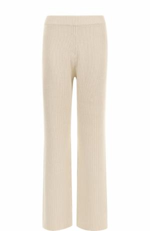 Кашемировые расклешенные брюки Joseph. Цвет: белый