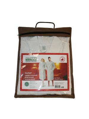 Халат универсальный вафельный удлиненный, цвет белый, размер XL PROFFI. Цвет: белый