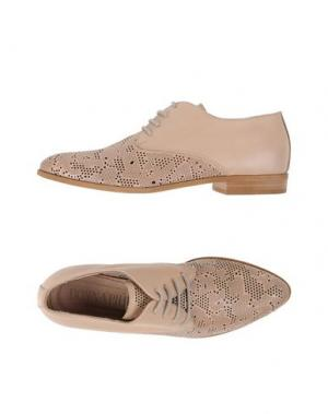 Обувь на шнурках DONNA PIÙ. Цвет: бежевый