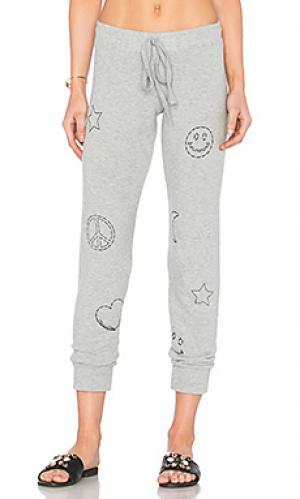 Стеганые спортивные брюки kizzy elements Lauren Moshi. Цвет: серый