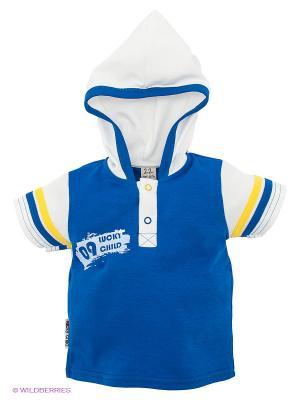 Футболка Lucky Child. Цвет: синий, молочный