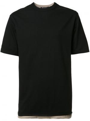 Двухслойная футболка T By Alexander Wang. Цвет: чёрный