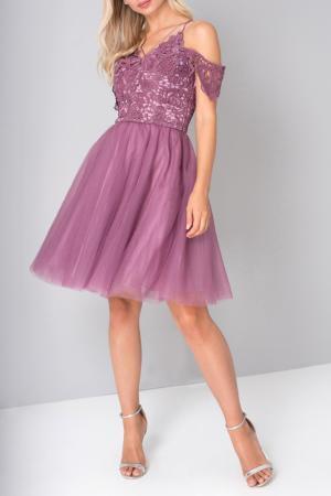 Платье CHI LONDON. Цвет: berry