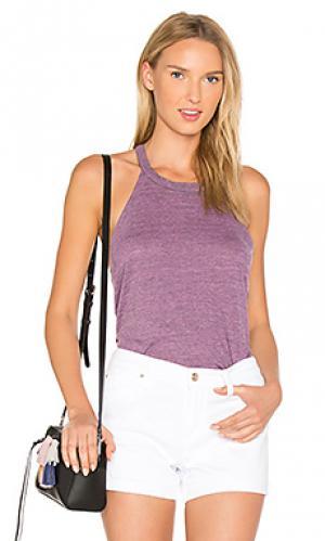 Майка с т-образной шлейкой Chaser. Цвет: фиолетовый