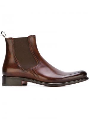 Ботинки по щиколотку Santoni. Цвет: коричневый