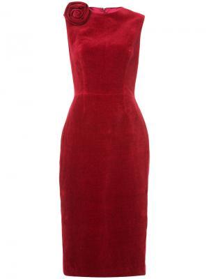 Платье миди с украшением в виде розы Martin Grant. Цвет: красный