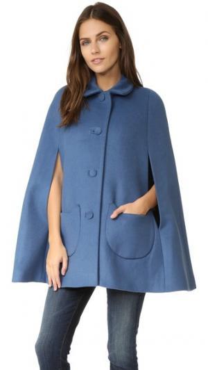 Пальто-накидка Anatole с карманами в виде кошек Paul & Joe Sister. Цвет: голубой