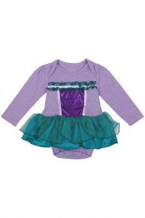 Боди-платье DOOMAGIC. Цвет: фиолетовый
