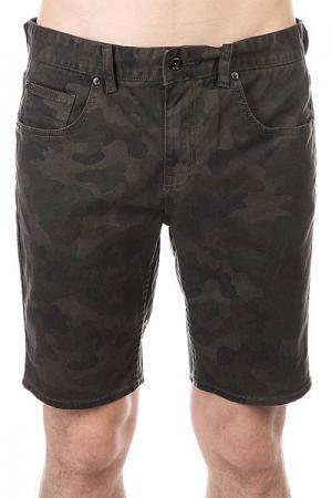 Шорты джинсовые  Soul Suckin Ii Walkshort Camo Globe. Цвет: зеленый,черный,коричневый,камуфляжный