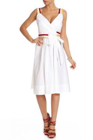 Платье Beatrice. B. Цвет: белый, полосатый пояс