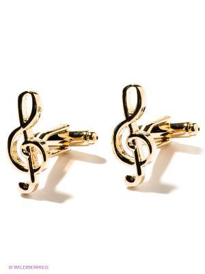 Запонки Скрипичный ключ Mitya Veselkov. Цвет: золотистый