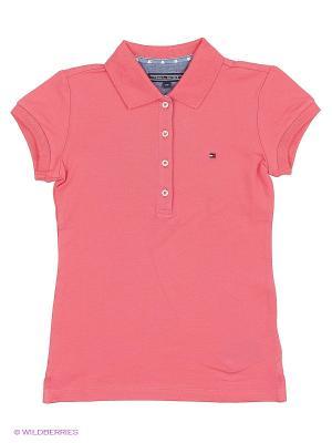 Футболка Tommy Hilfiger. Цвет: розовый