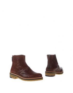 Полусапоги и высокие ботинки ZINDA. Цвет: коричневый