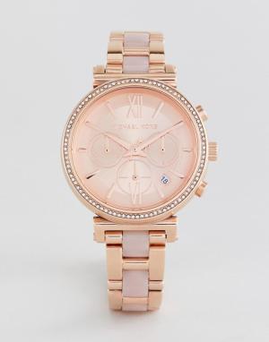Michael Kors Наручные часы цвета розового золота MK6560 Sofie 39 мм. Цвет: золотой