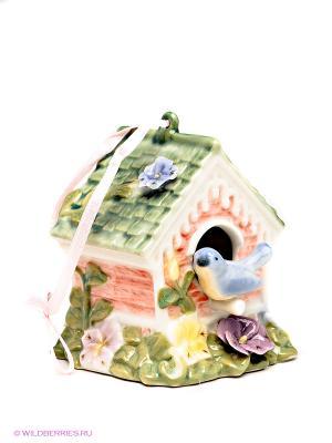 Фигурка Птичий домик Pavone. Цвет: зеленый